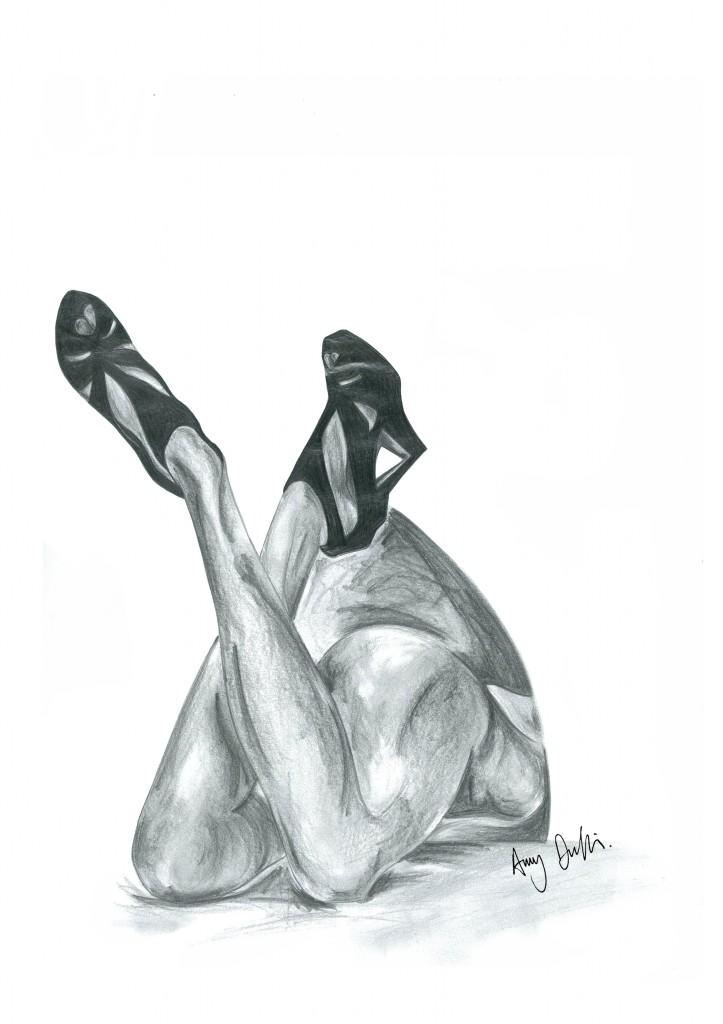 Sex on Legs Pencil Drawing