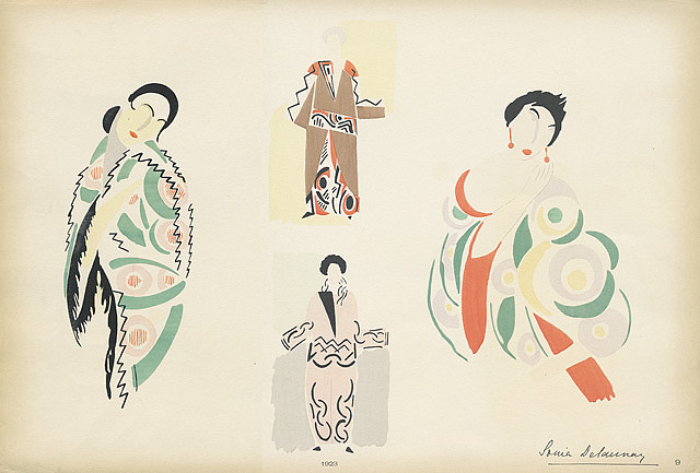 Sonia Delaunay Fashion Illustraion